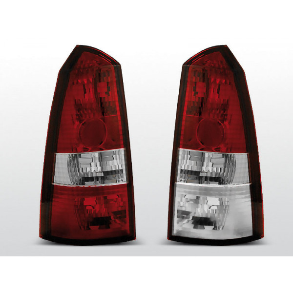 LAMPY FORD FOCUS KRYSTAL RED WHITE KOMBI 98-04