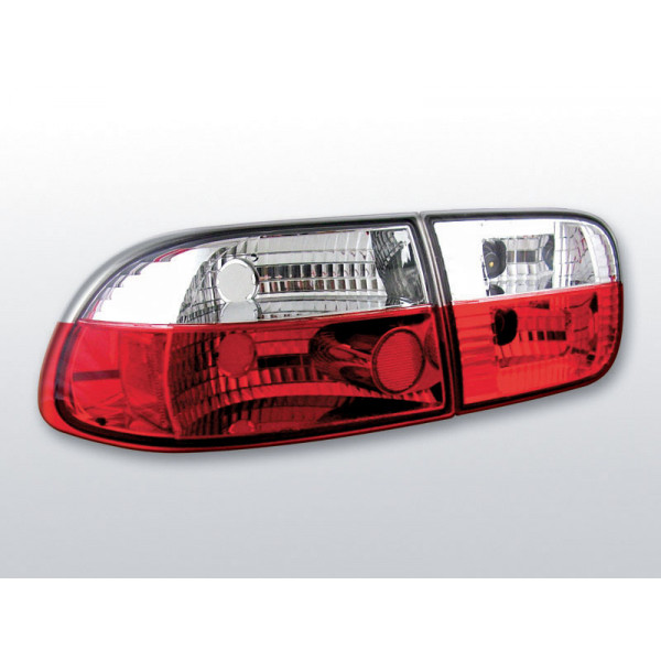 LAMPY HONDA CIVIC CRYSTAL RED WHITE 3D