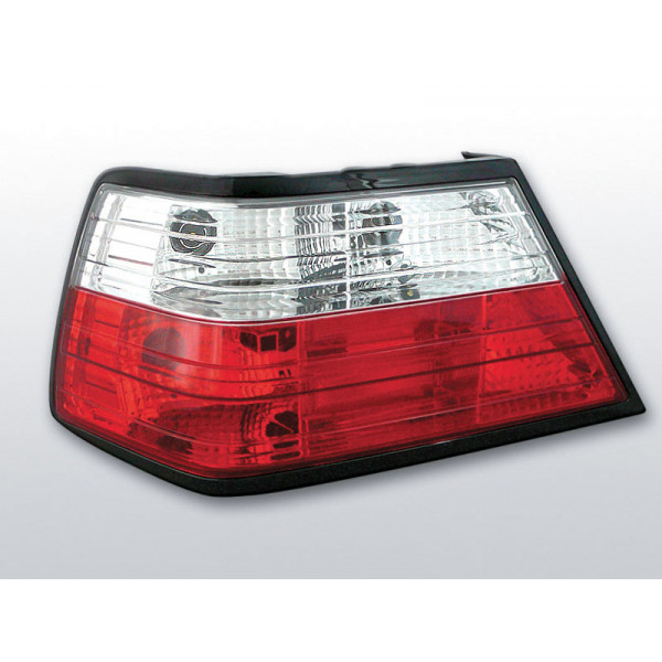 LAMPY MERCEDES W124 CRYSTAL RED WHITE
