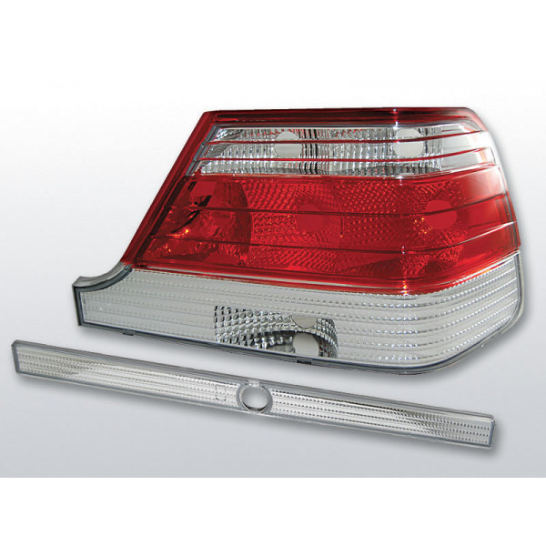 LAMPY MERCEDES W140 CRYSTAL RED WHITE