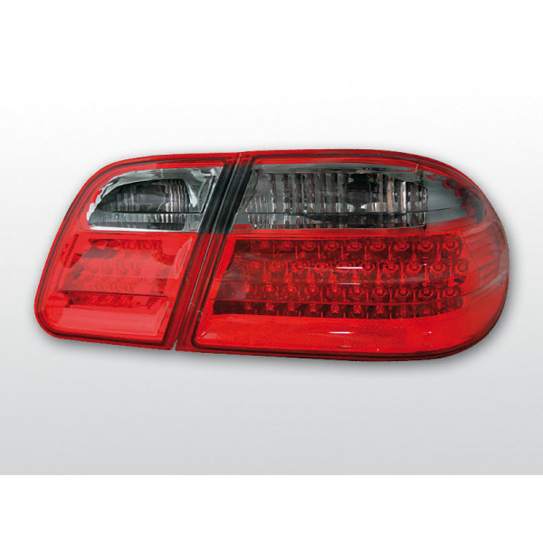 LAMPY MERCEDES W210 LED RED SMOKE