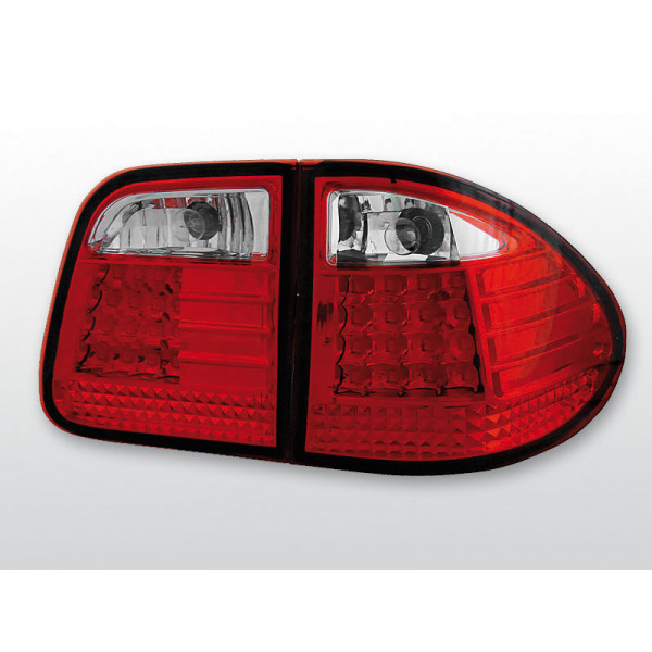LAMPY MERCEDES W210 LED RED WHITE KOMBI