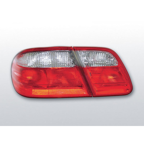 LAMPY MERCEDES W210 SEDAN CRYSTAL RED WHITE