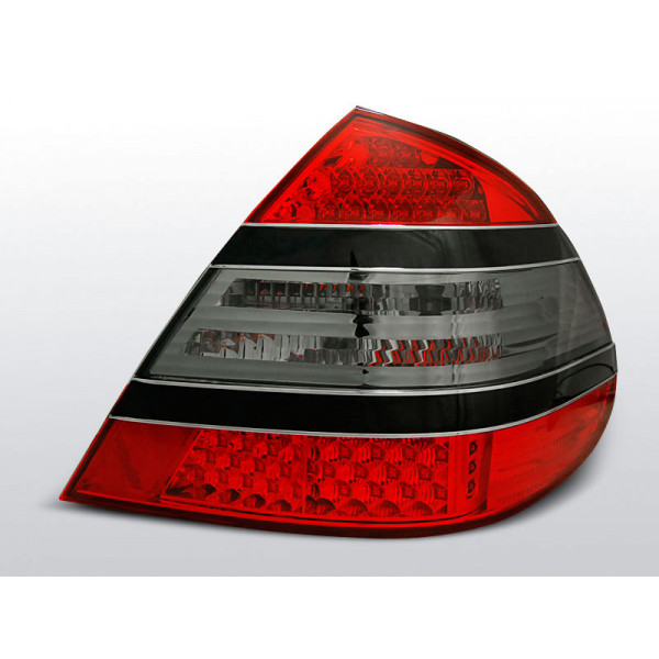 LAMPY MERCEDES W211 02-06 LED CRYSTAL RED SMOKE