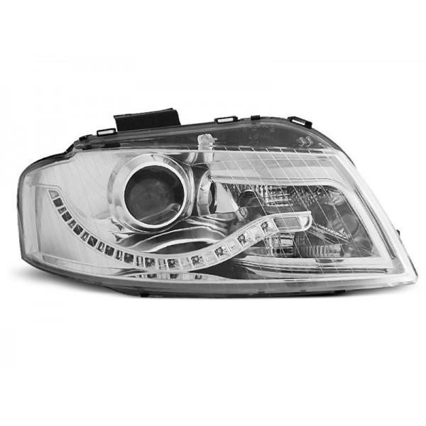 REFLEKTORY AUDI A3 LED BI CHROM