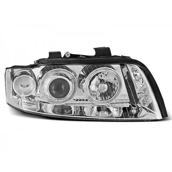REFLEKTORY AUDI A4 B6 RINGI CHROM