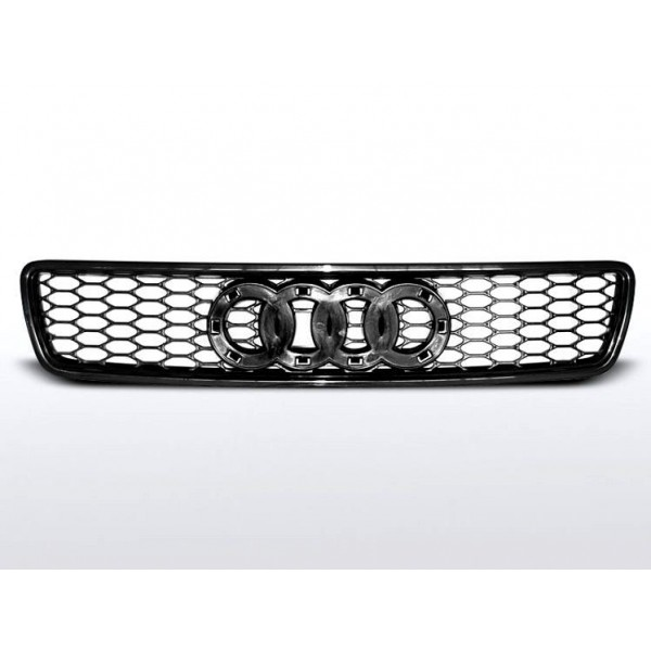 ATRAPA GRILL AUDI A4 NO EMBLEM BLACK RS TYPE