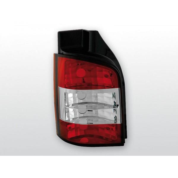 LAMPY VW T5 KRYSTAL RED WHITE
