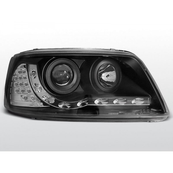 REFLEKTORY VW T5 LED BLACK + MIGACZ LED