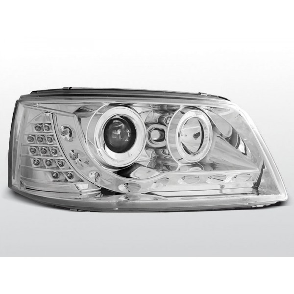 REFLEKTORY VW T5 LED CHROM + MIGACZE LED