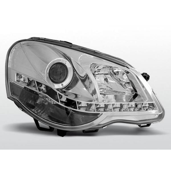 REFLEKTORY VW POLO 9N3 DRL CHROM