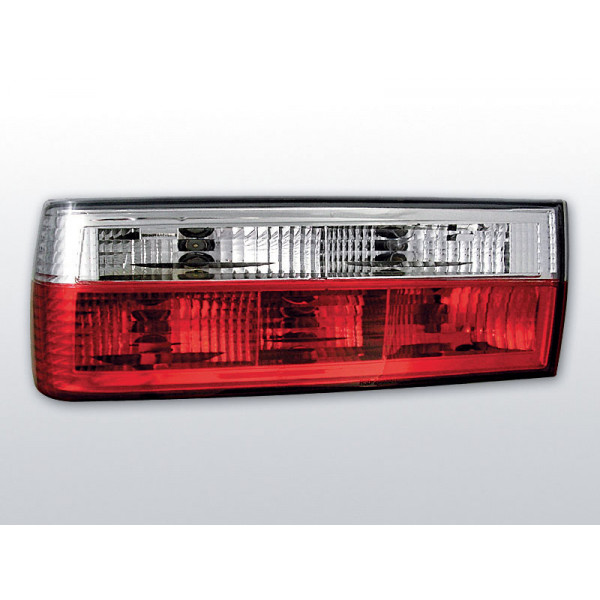 LAMPY BMW E30 CRYSTAL RED WHITE