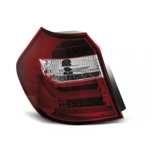 LAMPY BMW E87 E81 2004-2007 RED WHITE LED BAR