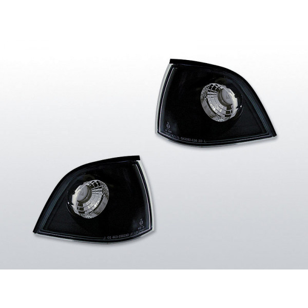 KIERUNKOWSKAZY PRZÓD BMW E36 CLEAR BLACK COUPE/CABRIO