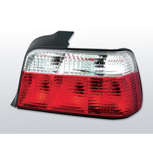 LAMPY BMW E36 CLEAR RED WHITE SEDAN