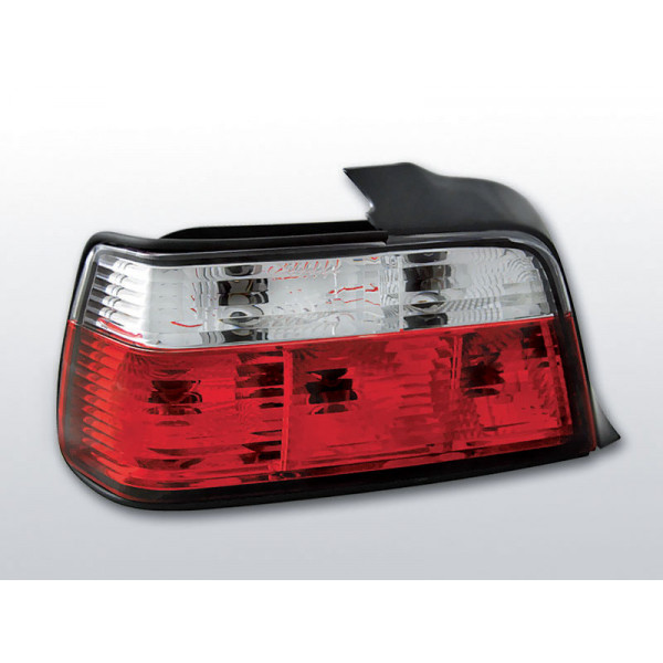 LAMPY BMW E36 CRYSTAL RED WHITE COUPE/CABRIO