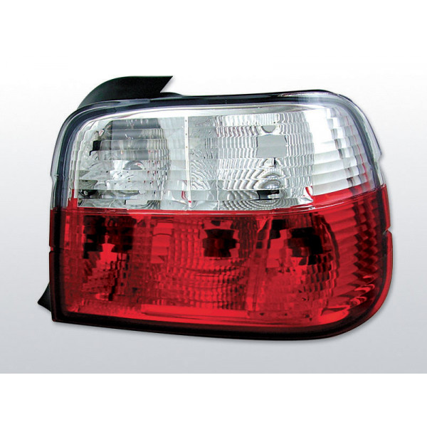 LAMPY BMW E36 CRYSTAL RED WHITE COMPACT