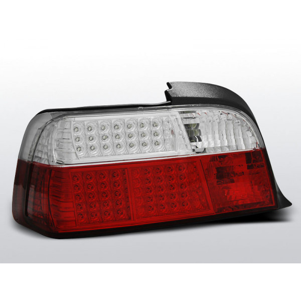 LAMPY BMW E36 LED KRYSTAL RED WHITE SEDAN