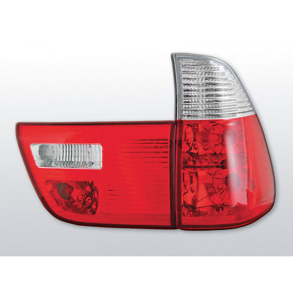 LAMPY BMW X5 E53 CRYSTAL RED WHITE