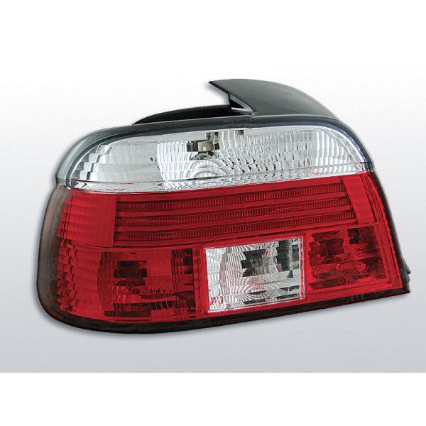 LAMPY BMW E39 CRYSTAL RED WHITE