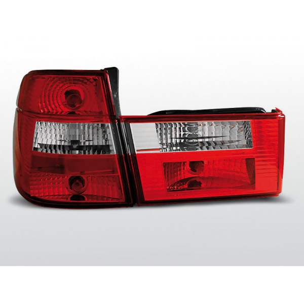 LAMPY BMW E34 CRYSTAL RED WHITE TOURING